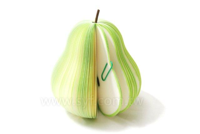 西洋梨造型便條紙