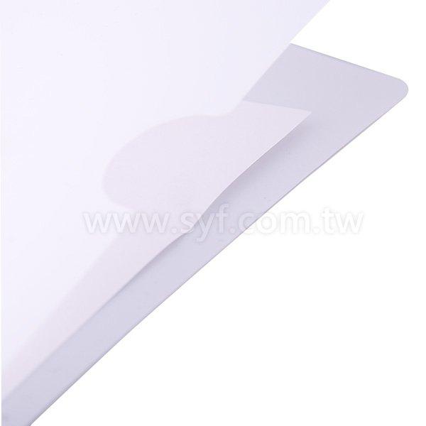 A4單層L夾彩色印刷全白墨-PP材質L型資料夾