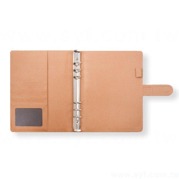 經典拼接工商日誌-磁扣式活頁筆記本-可訂製內頁及客製化加印LOGO