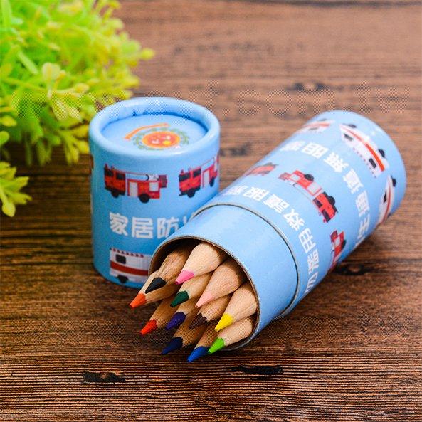 12色短彩色鉛筆