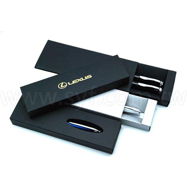 精品質感禮品對筆筆盒-包裝盒內附筆夾-可客製化加印LOGO