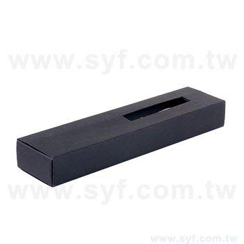 開窗精品質感禮品筆盒-包裝盒內附筆夾-可客製化加印LOGO