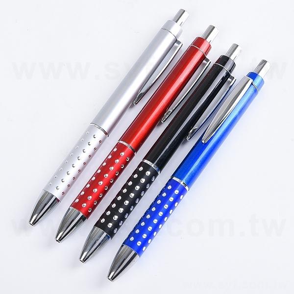 廣告筆-單色原子筆-四款鑽石筆桿可選-工廠客製化印刷贈品筆