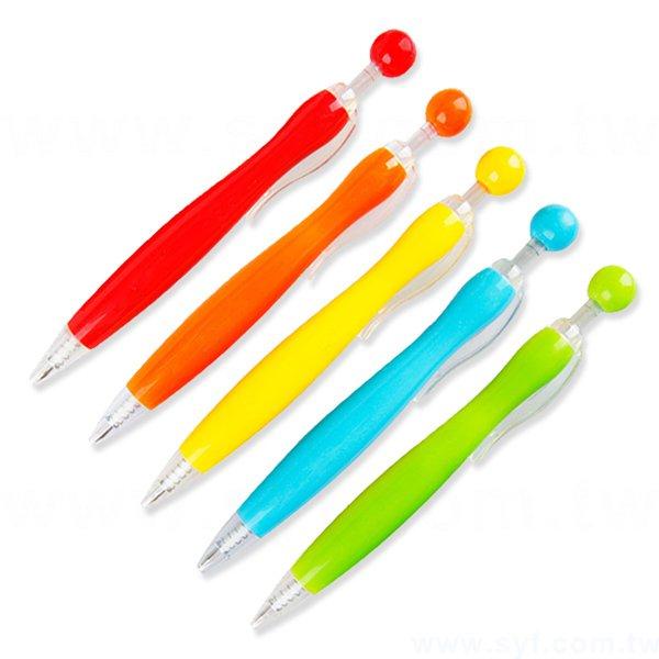 廣告筆-造型塑膠筆管禮品-單色原子筆-五款筆桿可選-採購訂製贈品筆