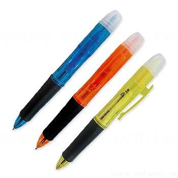 多功能廣告筆-兩種筆芯-防滑螢光筆禮品-二合一原子筆-六款式可選-採購批發製作贈品筆