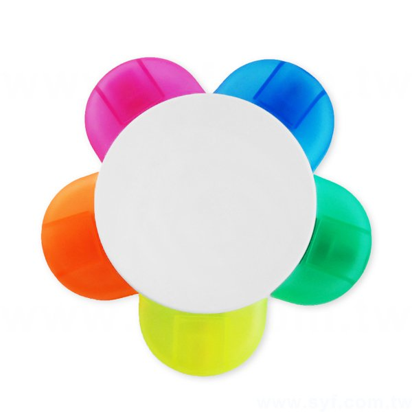 廣告螢光筆-造型花瓣禮品-五色原子筆-工廠客製化印刷贈品筆