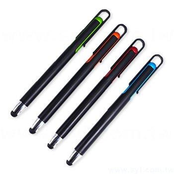 多功能觸控筆-消光印刷電容禮品-兩用觸控廣告原子筆-四款可選-採購批發贈品筆