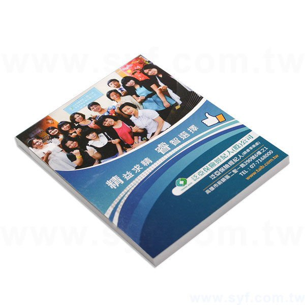 封卡便條紙-內頁50張單面單色印刷-封面單面彩色印刷上亮膜