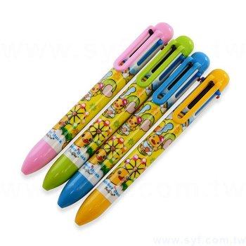 廣告筆-多色原子筆-六色筆芯四款筆桿可選-採購批發製作贈品筆