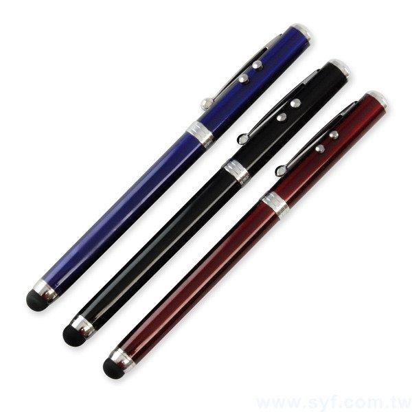 觸控筆-金屬電容禮品多功能廣告筆-五和一雷射觸控原子筆-三款式可選-採購批發贈品筆