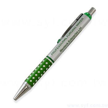 廣告金屬筆-鑽石筆管推薦禮品-單色原子筆-採購客製印刷贈品筆