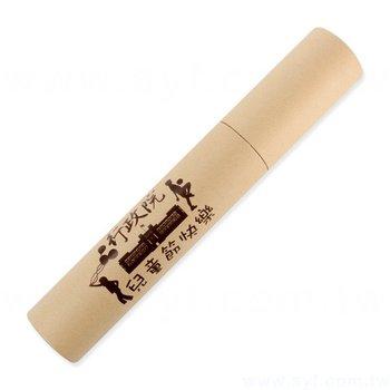 彩色鉛筆-牛皮紙圓筒廣告印刷禮品-原木環保廣告筆-採購客製印刷贈品筆