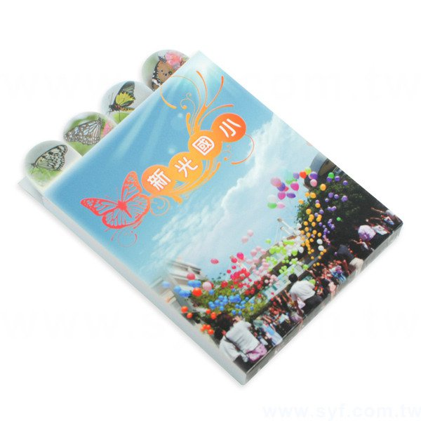 多層造型便條紙-內頁4種造型各20張單面彩色印刷-封面單面彩色印刷