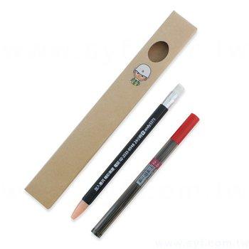 自動鉛筆-環保禮品六角軸廣告筆-替換式筆芯鉛筆-採購客製印刷贈品筆