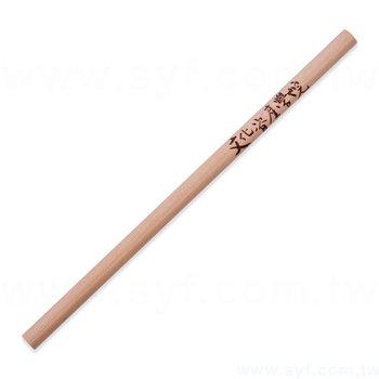 原木鉛筆-兩邊切頭原木筆桿-廣告環保筆-工廠客製化印刷贈品筆