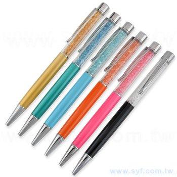 廣告水晶筆-股東會推薦金屬禮品筆-商務鑽石廣告原子筆-五款式採購可選-客製批發贈品筆