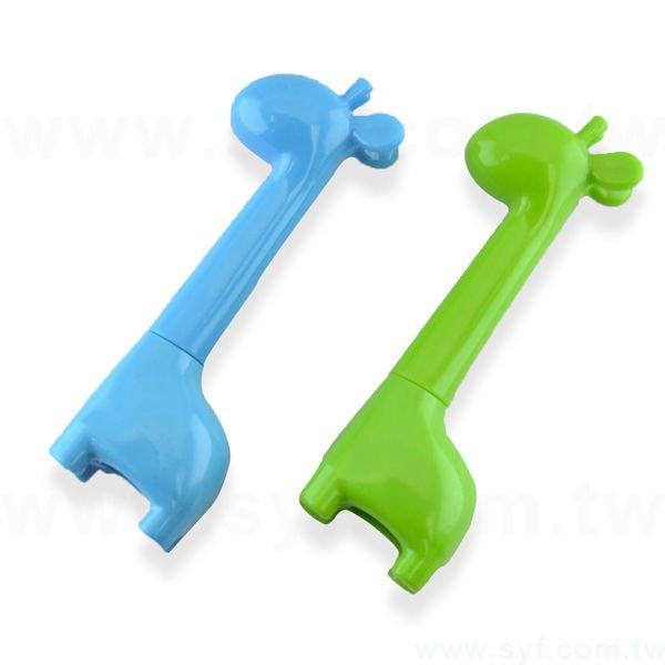 長頸鹿造型廣告筆-動物筆管禮品-單色原子筆-兩款式可選-採購客製印刷贈品筆